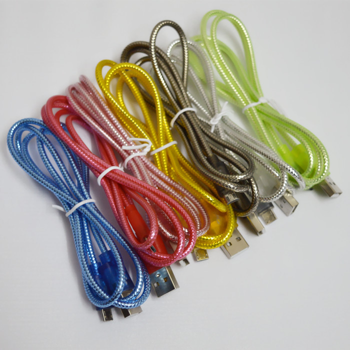 New Arrival 8Colors Durable High Quality PVC 1m Micro USB Charge Data Cable for Samsung Galaxy I9300 S4 S3 HTC LG Cell Phone