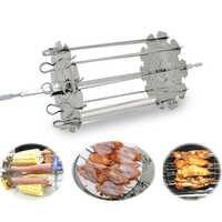 Qualité alimentaire 304 acier inoxydable grille rôtissoire tambour BBQ rôtissoire four Kebob brochettes rôti Cage rotatif cuisson poulet ailes outils