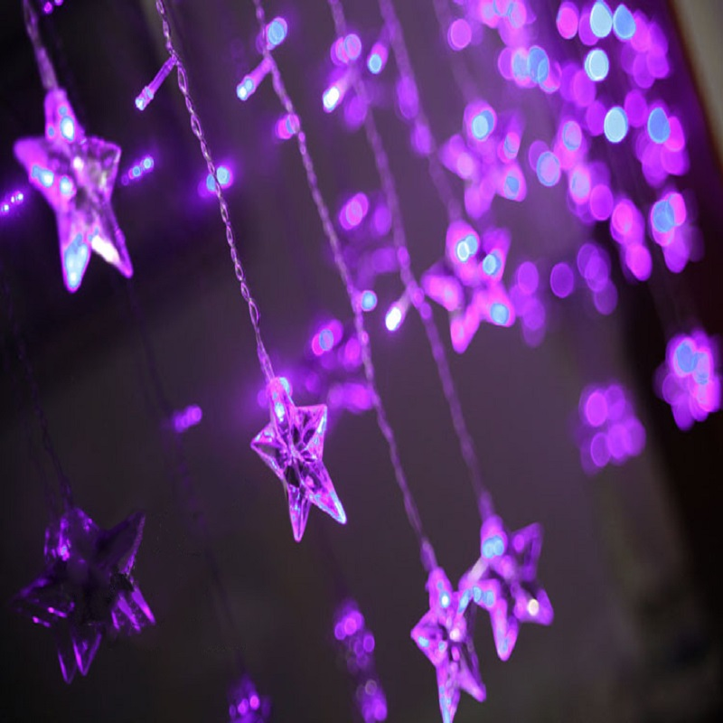 2m*1m 16pcs Five Point Star String Curtain Lights 104leds Fairy Light Decorative For Garden Holiday Christmas Party Starry Light-in Lighting Strings from ... & 2m*1m 16pcs Five Point Star String Curtain Lights 104leds Fairy ... azcodes.com