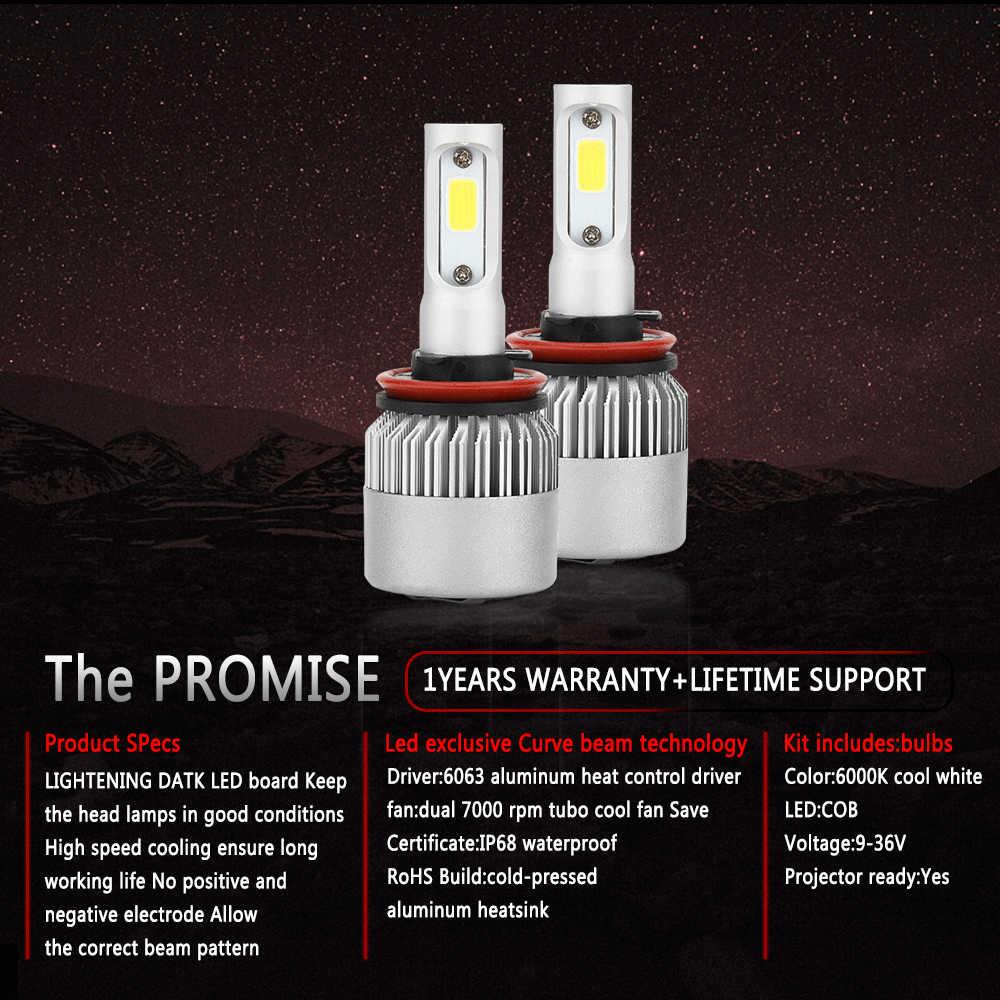 CROSSFOX LED Lamp 9004 9007 H13 Hi/Lo H1 H3 H11 880 5202 9005 HB3 9006 HB4 H7 H4 LED Headlight Bulb Car Auto Light 6000K 12V