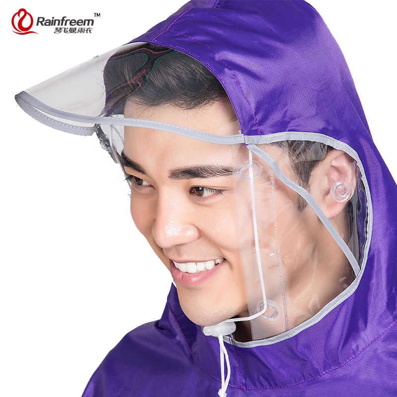 Rainfreem nieprzemakalny płaszcz przeciwdeszczowy kobiety/mężczyźni gruby rower odzież przeciwdeszczowa Poncho płaszcz przeciwdeszczowy kobiety wodoodporna odzież przeciwdeszczowa Poncho przeciwdeszczowe