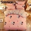 Solstice Комплект постельного белья для девочек-подростков  розовый  с медвежонком и кроликом