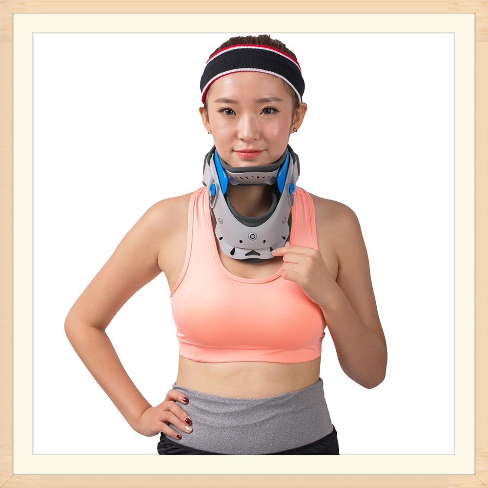 HKJD Cervical Collar Neck Support Brace Cervical Spine Neck Traction Device Release Pain From Illness HK-A001 neck cervical traction collar device brace support hard plastic for headache neck pain hight adjustable one size fit most