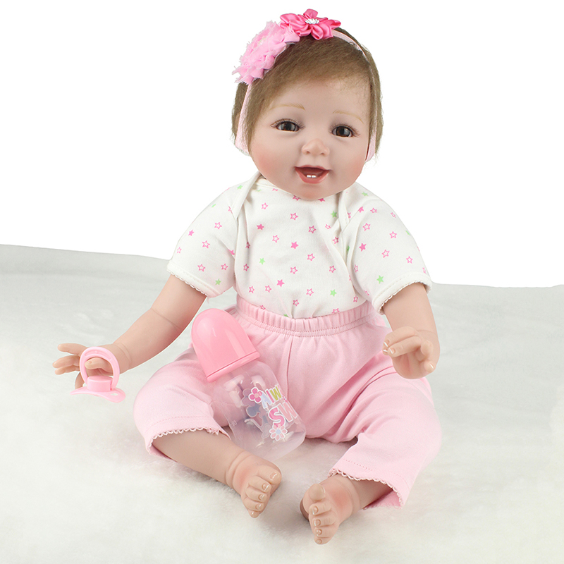 55cm Soft Silicone Reborn Baby Doll Toy For Girls NewBorn Princess Baby High-end Gift To Child Bedtime Play House education Toy55cm Soft Silicone Reborn Baby Doll Toy For Girls NewBorn Princess Baby High-end Gift To Child Bedtime Play House education Toy