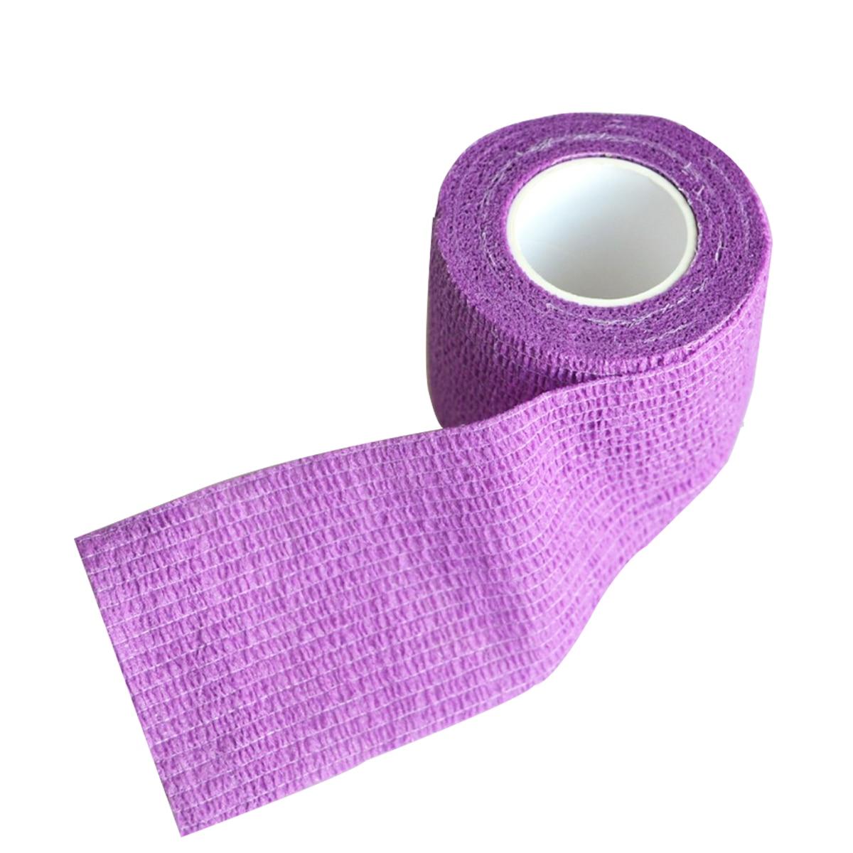 Wholesale 96Pcs/Lot Non woven Stretch Gauze Self Adhesive Cohesive Medical Bandage 5cm*4.5m Purple цена