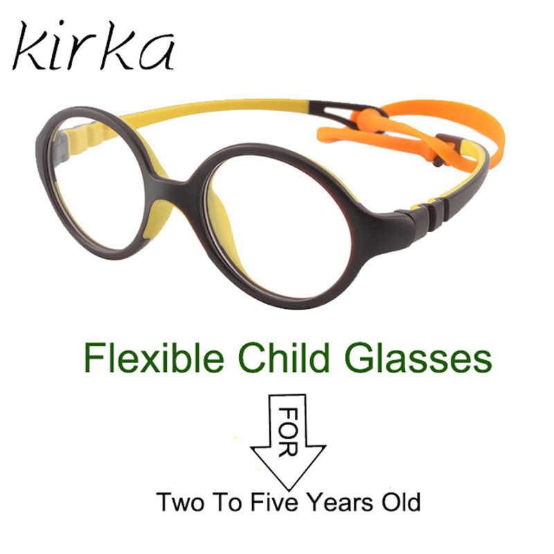Kirka Fashion Optical Glasses Frame Kids TR90 Flexible Eyeglasses Frame Brand Design Children Myopia Eye Glasses Frames Girls