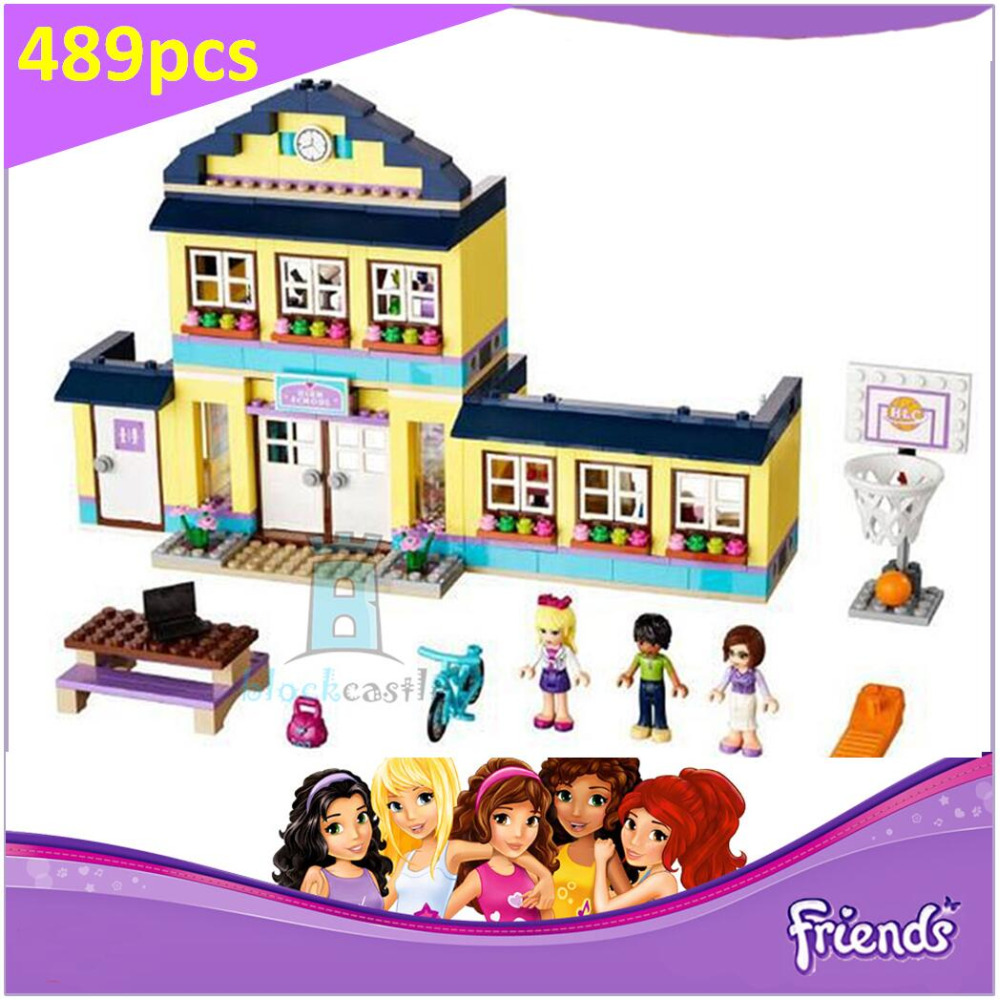Heartlake High School 41005 Building Blocks Model Toys For Children BELA 10166 Compatible legoed Friends Bricks Figure Set aiboully 10166 2017 new 489pcs girls friends heartlake city school building block sets assemble bricks toys compatible 41005