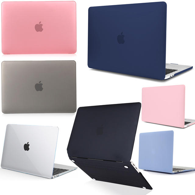 best loved 2b763 ef390 US $13.42 21% OFF|2018 New Rubberized Laptop Case For Apple Macbook Air 13  inch New model A1932 Touch ID Laptop Hard Case+Keyboard Cover-in Laptop ...