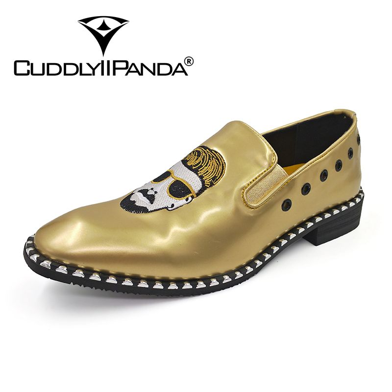 CuddlyIIPanda Men Punk Style Fashion Loafers Rock Rivet Top Quality Comfortable Breathable Men Superstar Shoes Men Casual Shoes 16