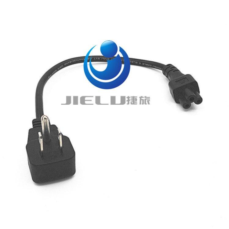 US Flat Plug Power Cord,Nema 5-15P Male Plug to IEC 320 C5 Female Socket Adapter Cable,10 PCS,30CM iec320 c5 micky male to c8 2 pin female power adapter c5 to c8 power adapter iec 3pin female to 2pin male