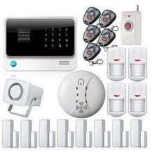 Productos Palabra Chuangkesafe Menú GSM + Sistema De Alarma WIFI Ayuda de La Cámara IP WIFI Sistema de Alarma Casera con APP + RFID función de Alarma GSM