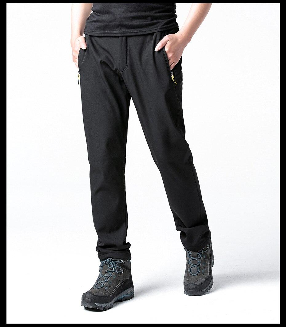 Fleece Warm Winter Hiking Pants Waterproof Softshell Trekking Pants Hunting Trousers (14)
