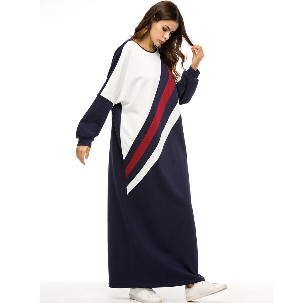 Vestito Casual Robe Modo Autunno Donne Allentato Ramadan Abito Photo  Partito Lunga Delle Medio O Di Musulmano ... b35071e10543