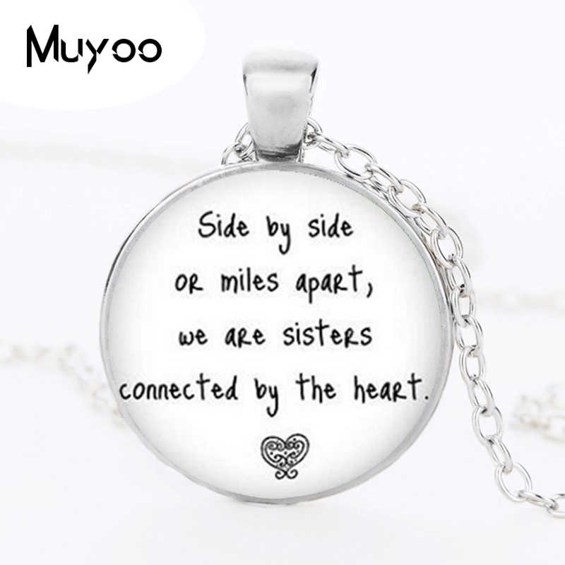 bronze quote Long Distance Sister Necklaces Pendants Sister Pendant I love my Sister Pendant side by side Necklace HZ1