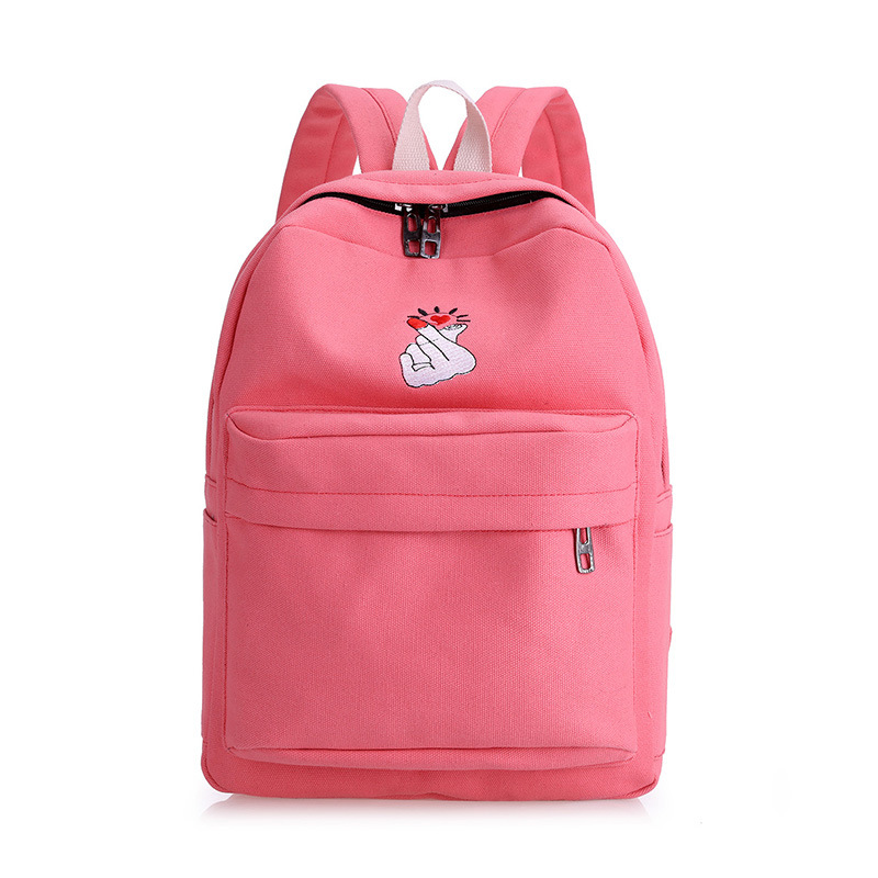 2017 Solid Color Women Backpack High Quality preppy style Cute Canvas Backpack Female School Bags For