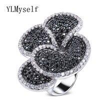 """Отличный товар """"Цветок"""" с крупными кольцо pave aaa струи и прозрачный"""