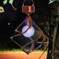 LED Solar Wind lamp Festival Colorful Household Garden Lights Change Color