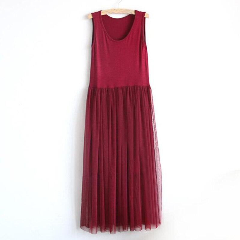 Women 2018 Summer Sexy lace Dress Solid Modal cotton Net