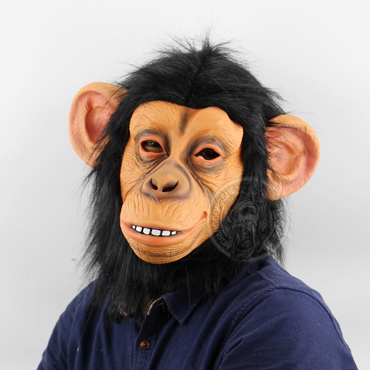 Kids Costumes & Accessories Animal Masks Animal Themed Costumes Monkey Orangutan Mask Cosplay Prop Halloween Accessories Men Women Face Mask Full Head