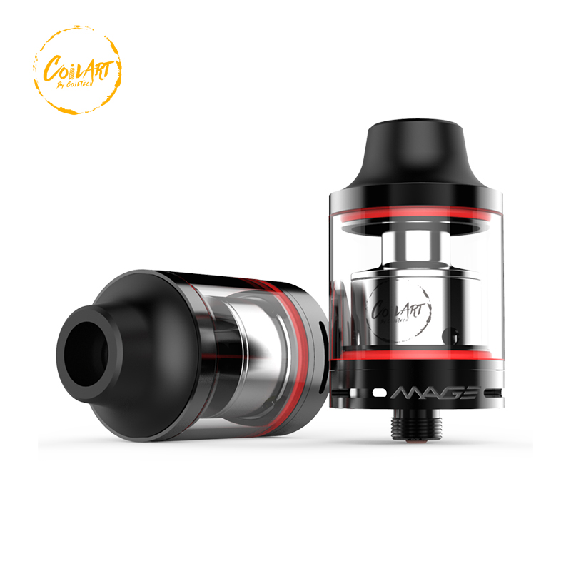 100 Authentic CoilArt Mage RTA atomizer tank 3 5ml 24mm Two Posts 15 2mm Build Deck