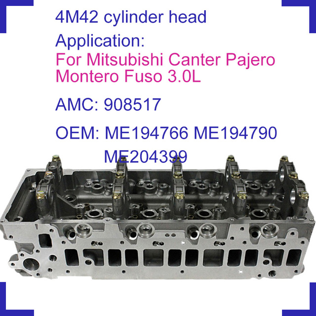 US $364 83 12% OFF|4M42 engine parts naked cylinder head 908 517 ME194766  ME194790 ME204399 for Mitsubishi diesel Canter Pajero Fuso 2977cc 3 0-in