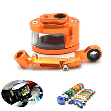 Universal Motorcycle Brake Fluid Reservoir Oil Tank have mounting kit For SUZUKI GSF Bandit 650 650S 1000 1200 1250 SV650