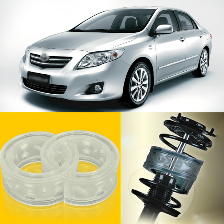 ФОТО 2pcs Super Power Front Shock Absorber Coil Spring Cushion Buffer for Toyota Corolla EX