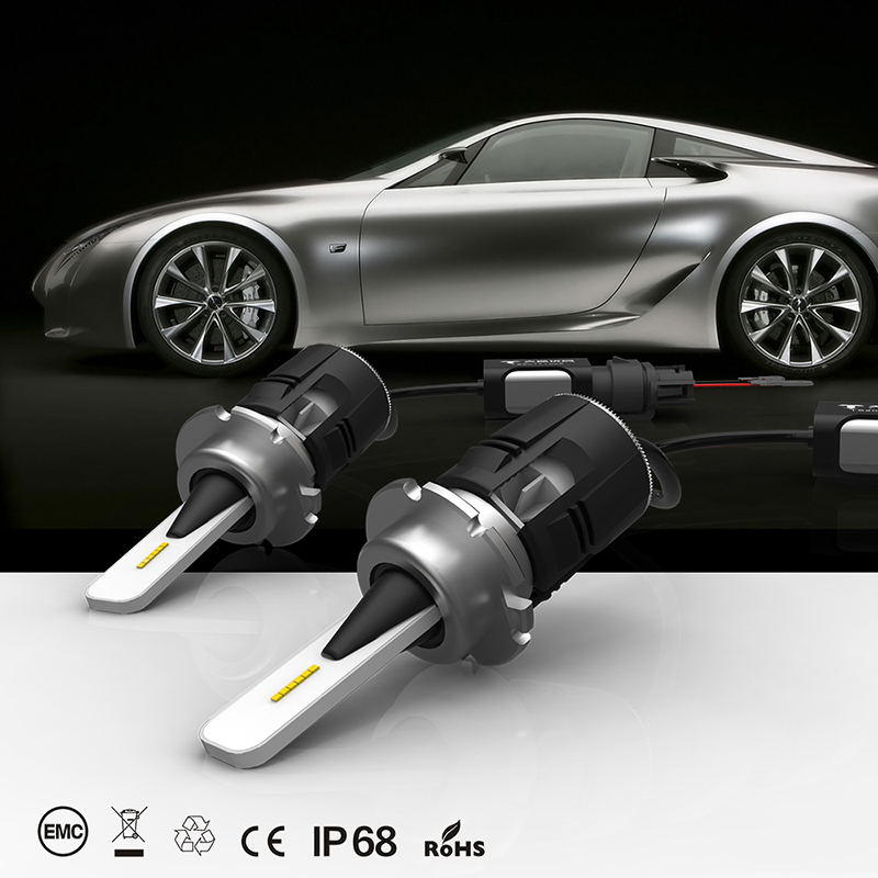 JKCOVER Headlight bulb H4 led 9004 H7 H11 9005 H3 9006 H1 60W Headlight Led 9005 9012 h13 High Power White 6000K Headlight Bulbs pair 9600lm w cree cob chips h1 h3 h4 h7 h8 h9 h11 880 881 9005 9006 9012 car led headlight kit bulbs 6000k white