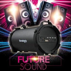 Image 4 - 블루투스 4.0 무선 스피커 6h 음악 핸즈프리 8W 빅 파워 스피커폰 내장 마이크 3.5mm 오디오 충전식 배터리