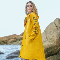 Yellow Men Raincoat Waterproof Coat Women Overall Raincoat Outdoor Impermeable Windbreaker Poncho Hoodie Jacket Girls 30YY048