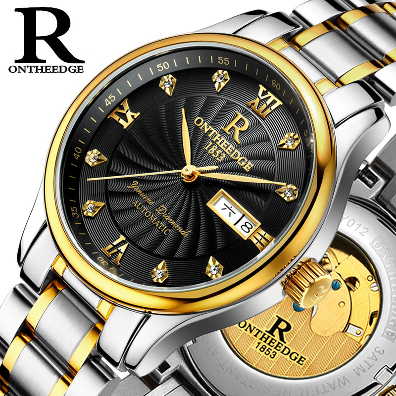 Sapphire glass butterfly double fastener brand name men automatic mechanical watch business watch Resistant reloj thermos double glass tumbler