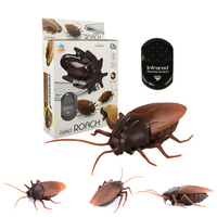 Infrared Remote Control Cockroach RC Toy Realistic Fake Cockroach Prank Insects Joke Scary Trick Bugs Antistress