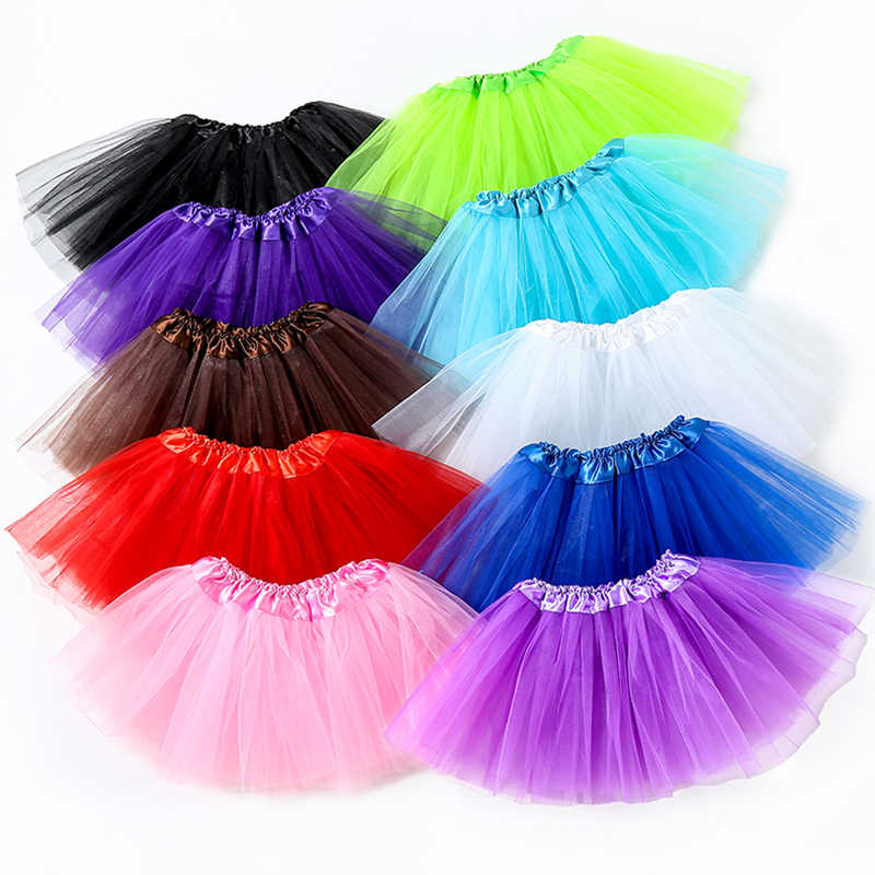 New Brand Baby Girl Clothes Pink Tutu Skirt Kids Princess Girls Skirt Ball Gown Pettiskirts Birthday Party Kawaii Skirts ZC01