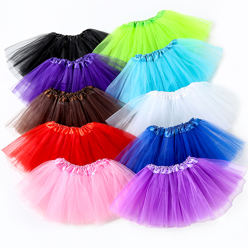 New Brand Baby Girl Clothes Pink Tutu Skirt Kids Princess Girls Skirt Ball Gown Pettiskirts Birthday Party Kawaii Skirts ZC01