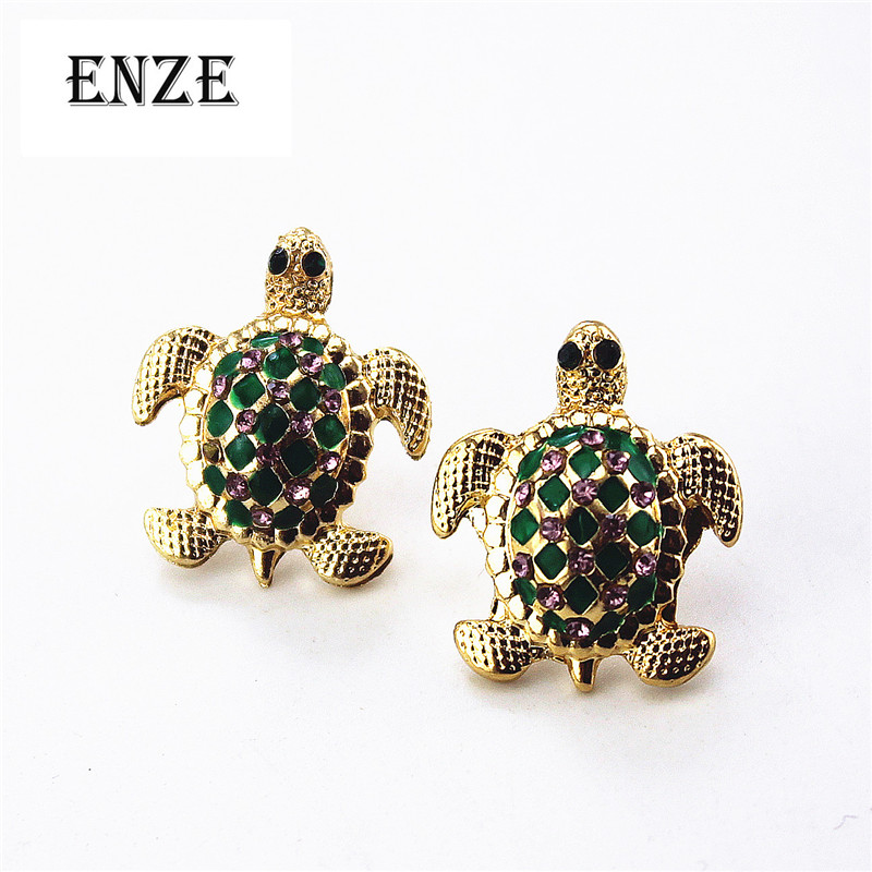 Fashion Stud Earrings 2014 New Fashion And Pure And Fresh Quietly Elegant Contracted The Turtle 0627 Female Stud Earrings