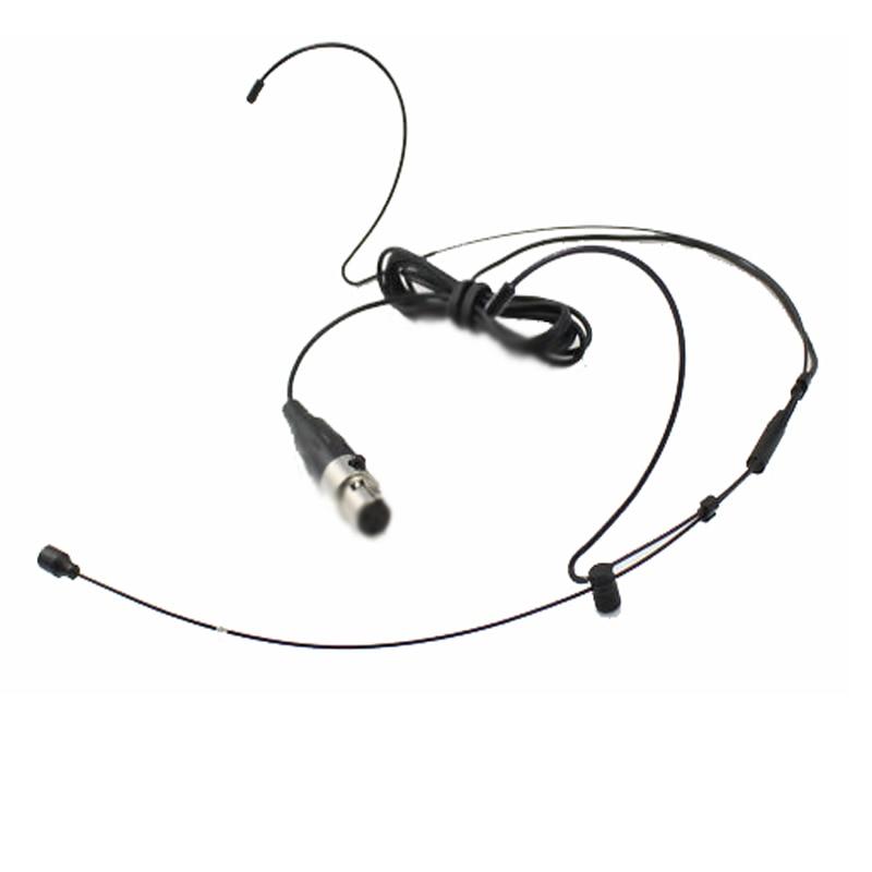 Black Double Hook headset mic For AKG Shure Sennheiser