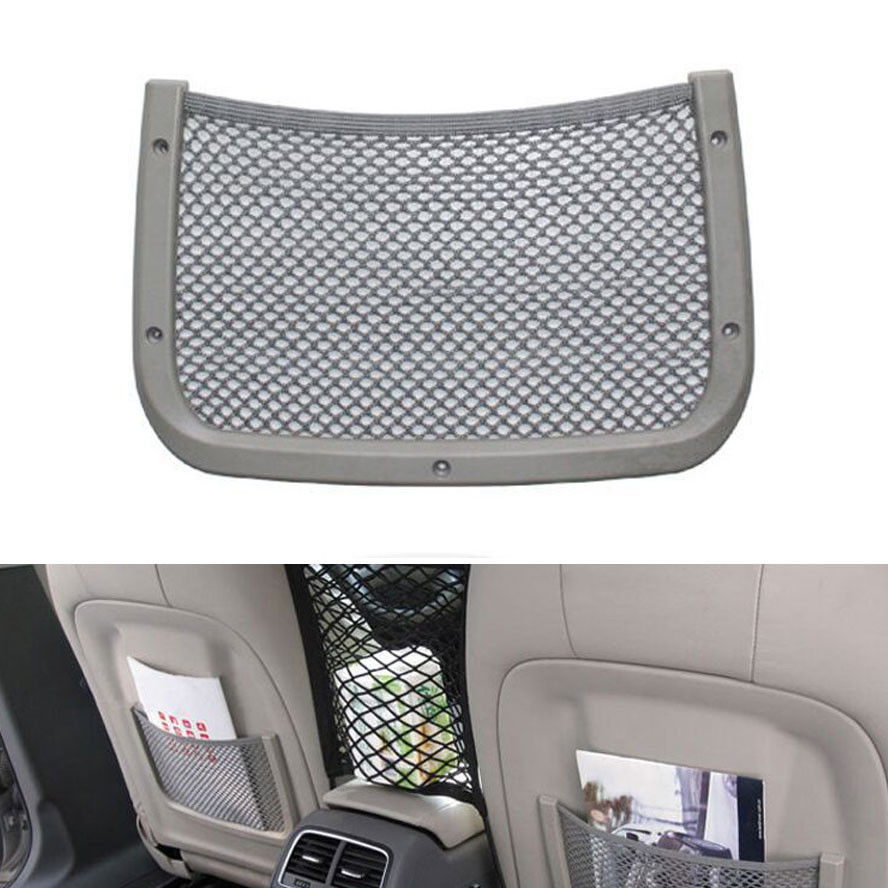 bbq fuka rear seat back storage luggage organizer holder mesh cargo pouch net pocket fit for a4. Black Bedroom Furniture Sets. Home Design Ideas