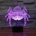 3D 7-Color Gradual Changing LED Touch Switch Visualization Illusion Atmosphere Table Lamp Home Decoration Household Night Light