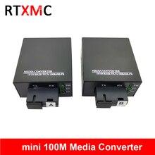 1 пара мини 1F1E волоконно-оптический медиа конвертер волоконно-оптический приемопередатчик одиночное волокно конвертер 25 км SC 10/100 M однорежимный одинарный волоконно
