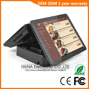 Image 2 - Haina Touch 15 inch Touch Pos Terminal Machine, Dual Screen POS Machine for Restaurant and Retail Shop