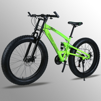 7/24/27 Speed 26x4.0 Fat bike Mountain Bike Snow Bicycle Shock Suspension Fork bicicleta Front and Rear Mechanical Disc Brake
