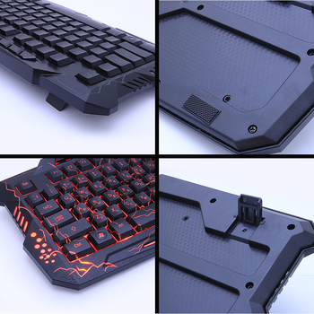 M200 Purple/Blue/Red LED Breathing Backlight Pro Gaming Keyboard Mouse Combos USB Wired Full Key Professional Mouse Keyboard 3