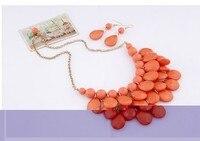 kymyad эку мода ювелирные наборы красочные африканцы bin комплект ювелирных изделий для ожерелья для женщин цепочки и серьги parure бижутерии роковой