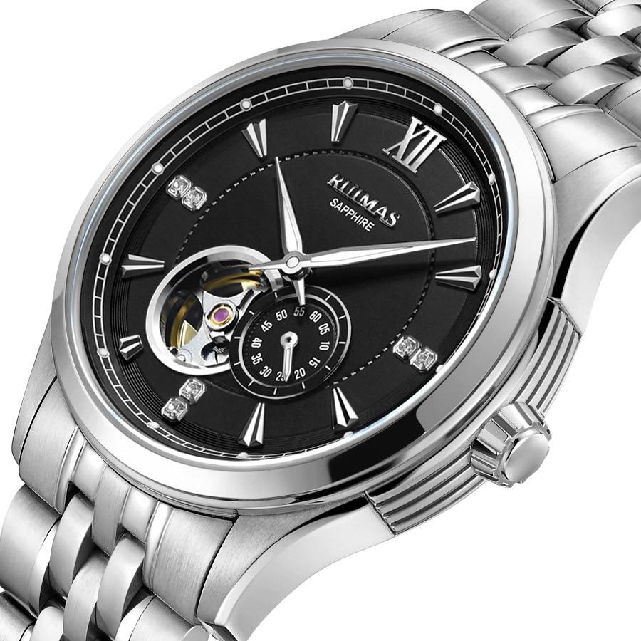 RUIMAS Reloj Hombre Men Luxury Mechanical Watch Top Fashion Men Business Wrist Watches Male Clock Automatic