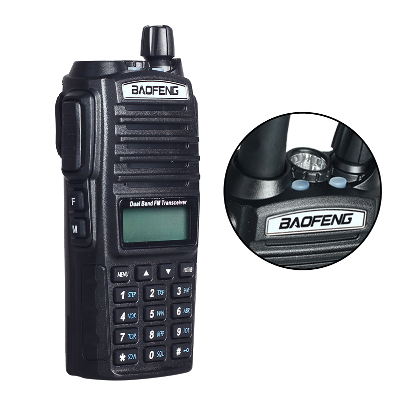 Portable Radio Walkie Talkie Baofeng UV 82 With Double PTT Earphone Button CB Ham Radio Vhf
