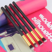 4pcs/set Professional Eye brushes set eyeshadow Foundation Mascara Blending Pencil brush Makeup tool Cosmetic Black Popular