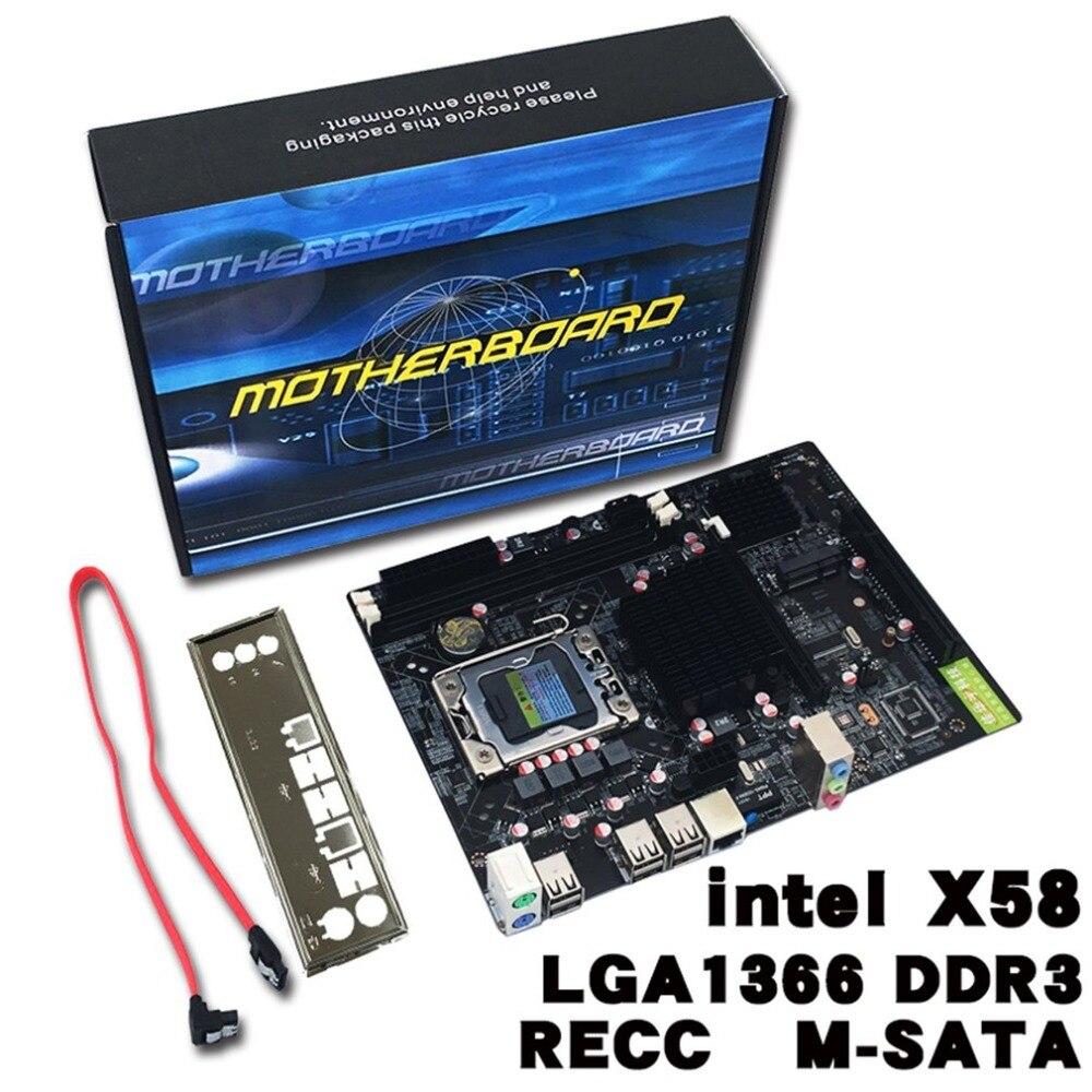 Professional Desktop Computer Mainboard X58 Board LGA 1366 Pin ECC All Solid Motherboard Support L/E5520 X5650Professional Desktop Computer Mainboard X58 Board LGA 1366 Pin ECC All Solid Motherboard Support L/E5520 X5650