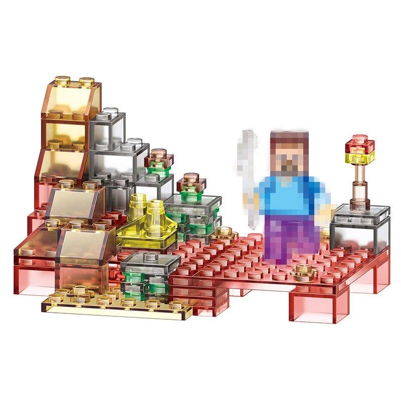 4w1 Nowa Wersja Światła Portfolio Produktów Model Building Blocks Cegły Cegły Mój Świat LegoINGLYS Minecrafter Technic Zabawki dla Dzieci