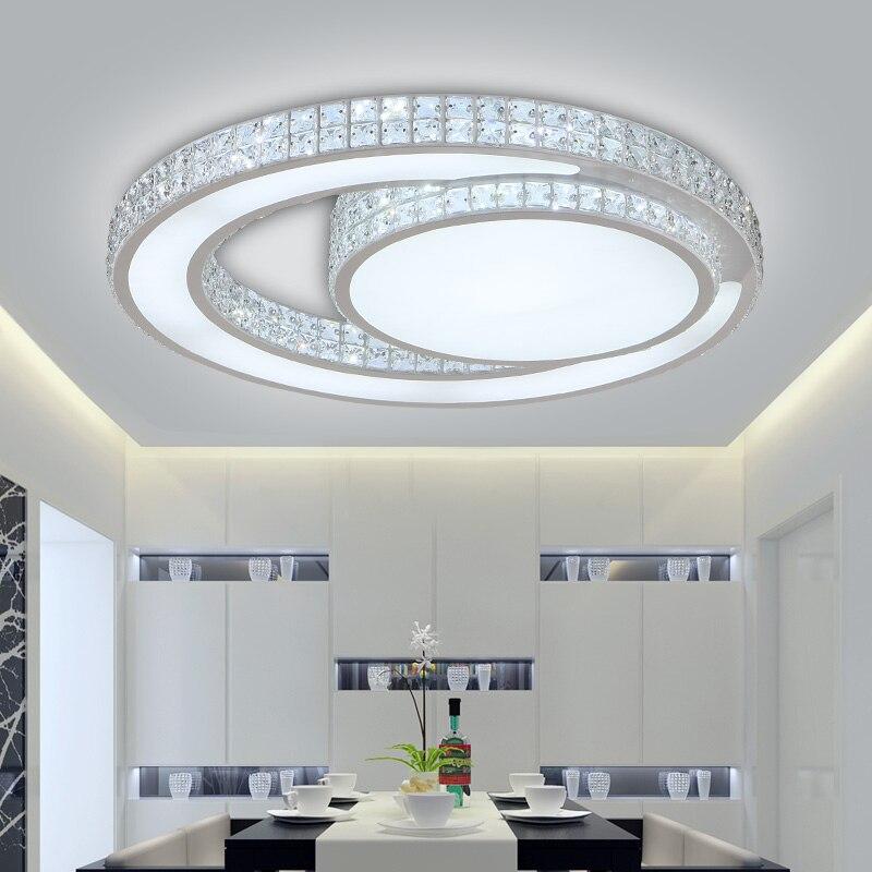 Moderne Led Cristal Plafonnier Pour Salon chambre Couloir salle Manger 90 260 v Led Lustre Cristal 5 Merveilleux Plafonnier Pour Salle A Manger Ojr7