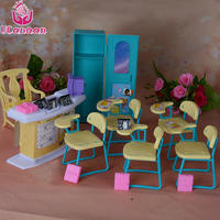 UCanaan Miniature Doll Accessories Furniture Scene Kindergarten Classroom Suit High Quality Safe Plastic Toys For Play